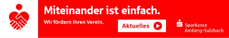 Unterstützung durch die Sparkasse Amberg-Sulzbach